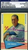 Lew Fonseca Signed 1961 Fleer Psa/dna Certed Autograph Authentic