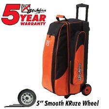 KR Strikeforce Cruiser Smooth Orange 3 Ball Roller Bowling Bag