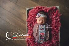 Cabernet Vegan Fur Newborn Baby Photo Prop, Photography Props, Basket Stuffer