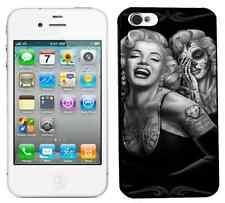 Case cover Iphone 4 4S 4G MARILYN MONROE SKULL ART