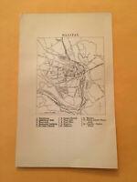 KY) 1885 Black's Railway Guide City of Halifax England Original Map