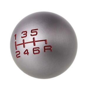 Aluminum 6 Speed Manual Shift Knob Gear M10x1.5 Thread For Honda Civic Odyssey