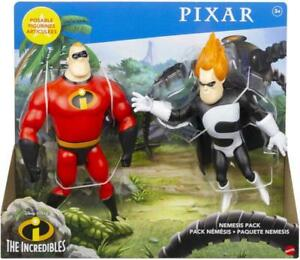 Disney Pixar The Incredibles Nemesis Pack Mr Incredible & Syndrome Figures