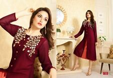 Trendy Western Georgette embroidary work Kurti maruen