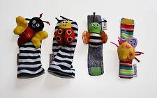 Socks & Wrist Rattles Lamaze Garden Bugs Soft Infant Baby Toy FREE UK POST