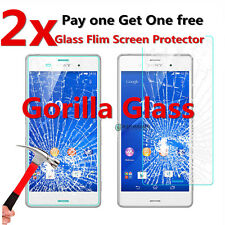 2PCS 9H+ TEMPERED GLASS SCREEN PROTECTOR GUARD CASE FOR SONY XPERIA MOBILE