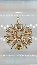 Vintage 14K Gold Opal Pendant