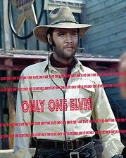 ELVIS PRESLEY in the Movies 1969 8x10 Photo CHARRO! in COWBOY HAT with CIGAR