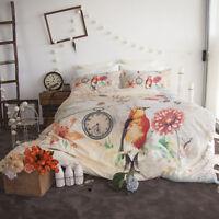 Birdie Quilt   Doona   Duvet Cover Set   Retro Home   Watches & Flowers   Double