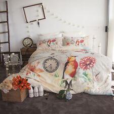 3 PCE Retro Home Birdie Duvet Quilt Doona Cover Set - Queen