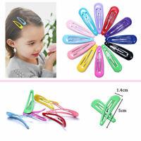 5cm Hair Clips for Hair Clip Pins BB Hairpins Candy Color Metal Barrettes 10Pcs
