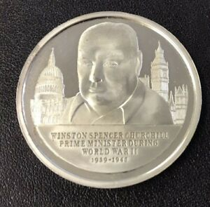 History of English Speaking People Sterling Silver Coin - The Second World War