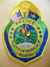Patches: CITY OF MUNCIE INDIANA POLICE PATCH (NEW* 12.5x9.5 cm)