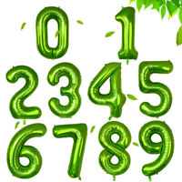 "40"" Green 0-9 Number Birthday Balloons Helium Foil Wedding Birthday Party Decor"