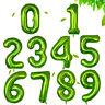 "40"" Green 0-9 Number Birthday Balloons Helium Foil Wedding Birthday Party Decor"