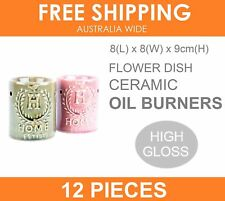 12 X Ceramic Oil Burner Burners Fragrant Essential Wax Candle Melts Aromatherapy