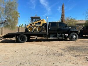 1991 Chevy C6500 Cat 3116 diesel quad cab truck with dovetail flatbed