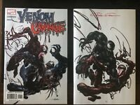 Venom 27 Clayton Crain Road Tour Variant /1000 Signed W COA & Venom Vs Carnage 1
