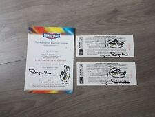 RICHMOND TIGERS - ROYCE HART SIGNED 1998 GRAND FINAL PERSONAL INVITATION TICKET