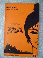 1964 Theatre Programme The Maid of the Mountains-John Hanson,L Kennington,D Byng
