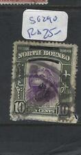 NORTH BORNEO (P2810B)   10C MONKEY SG 290 DOUBLE RING CANCEL  VFU