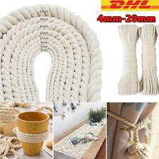 4-20MM Handgemacht DIY Beige Baumwolle Seil Stricken Geflochten Dekorativ Garn