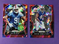 2019 Panini Prizm Red Ice Devin Singletary & Ed Oliver RC Rookie Card.Lot 🔥