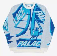PALACE P Tri-Sail Knit Sweater Crewneck White - Size Small - Supreme Superism