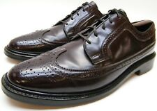 MENS VINTAGE BURGUNDY CORFAM LONG WING TIP V-CLEAT VCLEAT DRESS SHOES 9.5~1/2 C