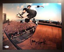 Tony Hawk Signed Autographed 11x14 Photo Beckett BAS Skateboarding Legend