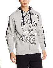 Sergio Tacchini Abbigliamento Uomo Felpa cappuccio Grigio Zip 72745 outlet Moda1 L