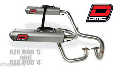 DMC Twin System Exhaust Pipe Muffler Polaris RZR 800S  800 S 2009 - 2014