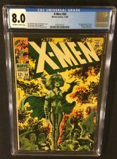 X-MEN #50 Comic Book CGC 8.0 Marvel 1968 POLARIS Origin of BEAST Jim Steranko