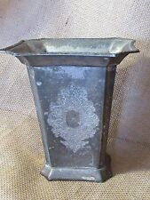 Art Deco Rectangular Silver Plated Vase Cool Design & Look