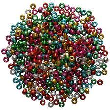 Granos de poni Plástico Metálico Colores Mezclados barril Craft pelo trenzado 500