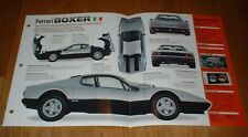 ★★1978 FERRARI BOXER SPEC SHEET BROCHURE PHOTO INFO PAMPHLET 78★★