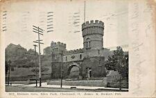 CINCINNATI OH~ELSINORE GATE AT EDEN PARK~JAMES K STEWART PUBL POSTCARD 1911