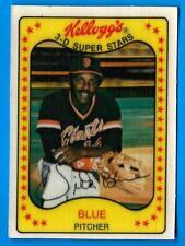 1981 Kellogg's VIDA BLUE (ex-mt) Atlanta Braves