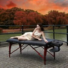 Master Extra 31 inch Montclair Portable Massage Reiki Table Package Black