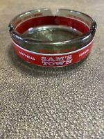 Vintage Sam's  Town Casino Las Vegas Smoked Glass Ashtray