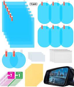 14Par Rearview Mirror Film Rainproof Waterproof High-Definition Transparent NEW