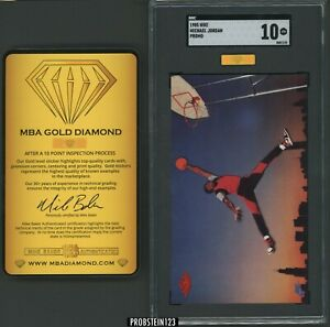 1985 Nike Promo Basketball Michael Jordan RC Rookie HOF SGC 10 MBA GOLD DIAMOND