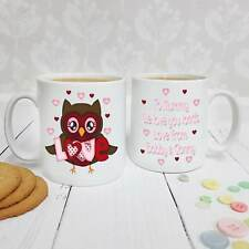 Personalised White Ceramic Mug - Love Owl