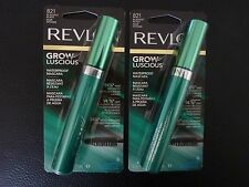 Revlon Grow Luscious WATERPROOF Mascara - BLACKEST BLACK #821 - TWO - New/Sealed