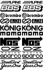Alpine BBS Brembo  Enkei König MOMO NOS OZ Racing  Streetglow Year one #SK-008