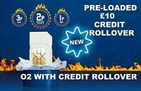 *£10 POUNDS PRELOADED O2 PAY AS YOU GO SIM CARD WITH £10 CREDIT LOADED