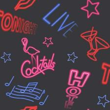 Rasch CITY LIGHTS NEON BAR SIGN modello nota musicale Motif Carta da parati 273007