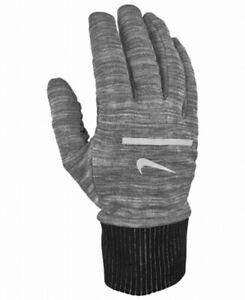 Nike Men's Running Gloves Gray Size Medium M Athletic Sphere Tech Touch $25 #227