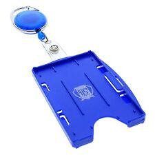 Multi Card ID Holder (Vertical or Horizontal) & Retractable Carabiner Badge Reel