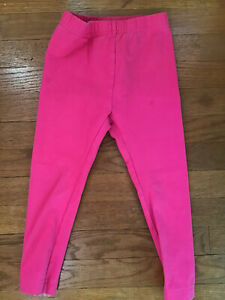 Hanna Andersson Toddler Girls Cotton Stretch Leggings Pants Pink 3 Size 90